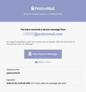 Proton Email Body