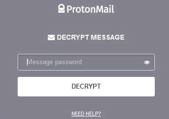 Proton Decrypted Email