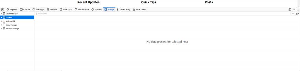 Firefox Storage